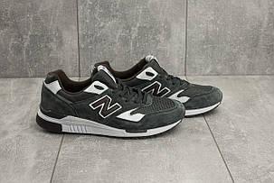 Мужские замшевые кроссовки серые New Balance 840топ-реплика, фото 2