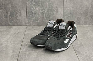 Мужские замшевые кроссовки серые New Balance 840топ-реплика, фото 3