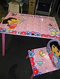 """Детский столик со стульчиками Dorlin Dora J 002-051 «Даша путешественница""""киев, фото 6"""