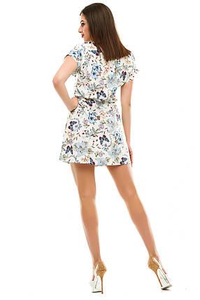 Платье 412  с ремнем белая бабочка, фото 2