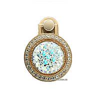 Кольцо-держатель, подставка для телефона Crystal со стразами Gold / Silver
