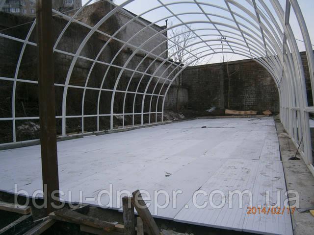 Устройство бетонного пола в ангаре