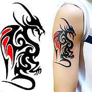 """Татуировка- наклейка """"Дракон"""""""