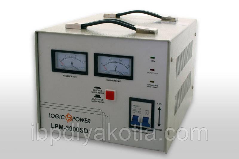 Стабилизатор напряжения сервоприводный LogicPower LPМ-3000SD (2400Вт)