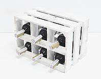 Ящик Модульный Горизонтальный на 6 бутылок для вина.