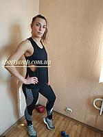 Женский спортивный костюм  (Леггинсы + топ + баталл) 42-48р