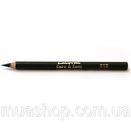 """Восковый карандаш для бровей LaCordi """"Care & Easy"""" №01B Черная земля, фото 2"""