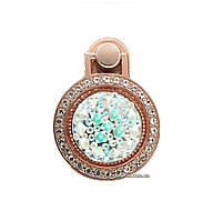Кольцо-держатель, подставка для телефона Crystal со стразами Rose Gold / Silver