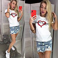 Женская футболка с сердцем, фото 1