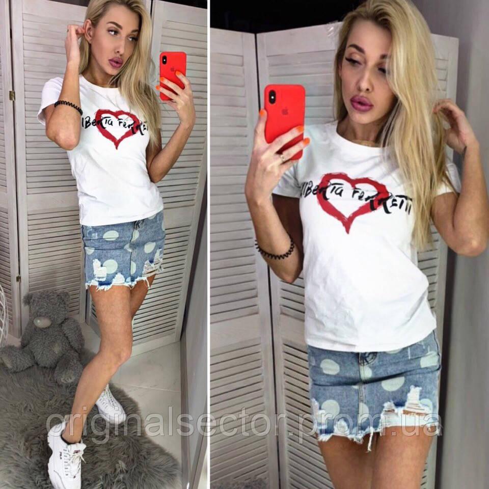 Женская футболка с сердцем