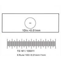 Калибровочная линейка SIGETA X 1мм/100 Div.x0.01мм (код 241-250569)