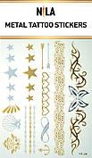 Татуировка- наклейка (золотая Звезды)