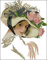 Набор для вышивания крестиком Дама. Размер: 25*32 см