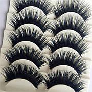 Ресницы ленточные черные с синим