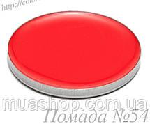 Помада №54 ярко-красный, глянцевый