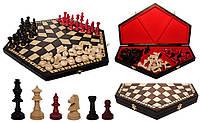 "Шахматы ""На троих"" большие 46х14х27х5"