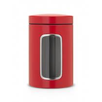 Контейнер для сыпучих продуктов с окном 1,4л Passion Red Brabantia 484063