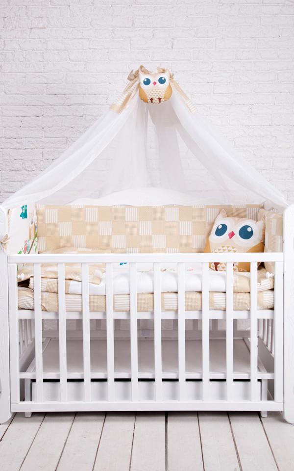 Комплект для детской кроватки CUTE OWLS