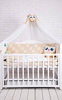 Комплект для детской кроватки CUTE OWLS, фото 1