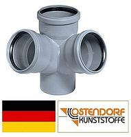 Крест 110х110х110х67° двухплоскостной канализация Ostendorf