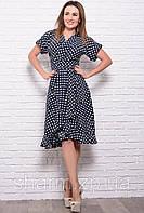 Платье с коротким рукавом Бланка, горох