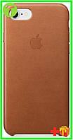 Чехол Apple iPhone 8 Leather Case (OEM) - Saddle Brown