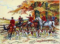 Набор для вышивания крестиком Ковбои на лошадях. Размер: 40*29,5 см