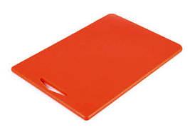 Доска разделочная пластиковая 380*260*10 c ручкой
