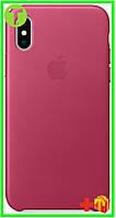 Чехол Apple iPhone XS/X Leather Case (OEM) - Pink