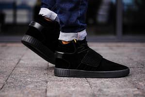 Мужские кроссовки Adidas Tubular Black \ Адидас Тубулар Черные \ Чоловічі кросівки Адідас Тубулар Чорні