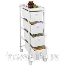 Кухонний візок 77 x 23 x 39 см на 4 шухляди