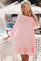 Женское красивое платье с оборкой  Роза