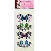 Татуировка- наклейка 4 бабочки