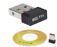 Адаптер wi-fi  беспроводный 150M USB 802.11n LAN + диск драйвера, фото 1