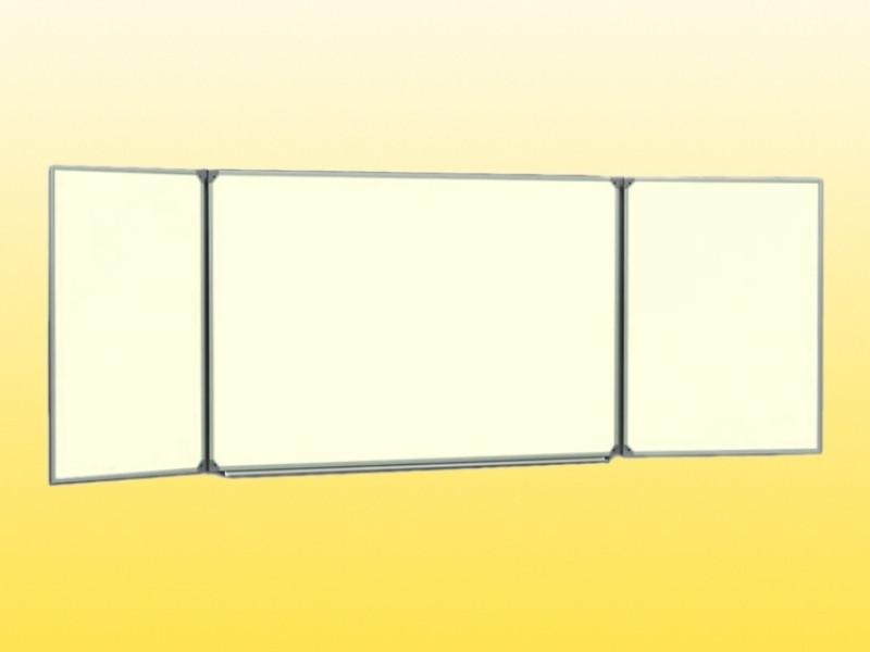 Доска аудиторная, 3-створчатая,  3000х1000 мм, магнитная под маркер