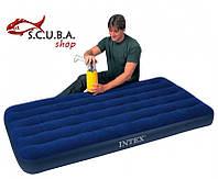 Односпальный надувной матрас INTEX 68757 размеры 99 Х 191 Х 22 см
