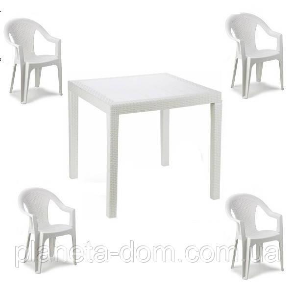 Комплект пластикових меблів King Ischia 4 білий