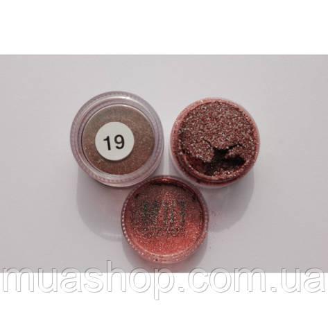 Рассыпчастые тени (бордовые с изумрудным отливом) Cinecitta 19, фото 2