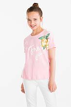 Подростковая футболка на девочку 11-12 лет C&A Германия Размер 146-152