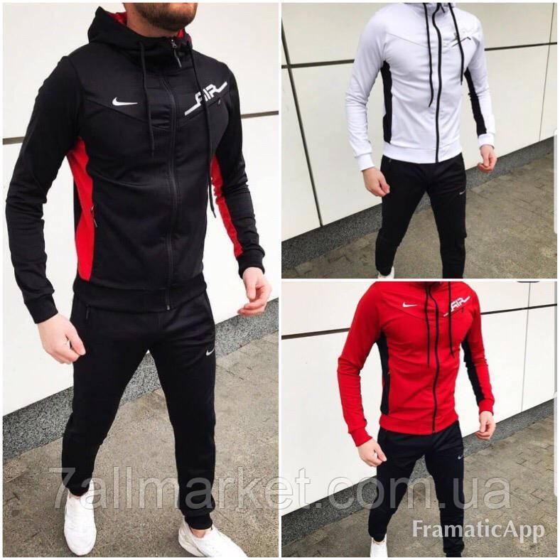 215d0402 Спортивный костюм мужской NIKE двунитка, размеры S-2XL (2цв)