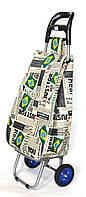 Господарська сумка візок Xiamen з колесами на підшипниках Brazil flag (0061), фото 1