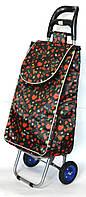 Хозяйственная сумка тележка Xiamen с колесами на подшипниках Black strawberry (0064), фото 1