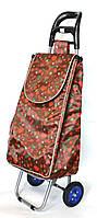 Хозяйственная сумка тележка Xiamen с колесами на подшипниках Brown strawberry (0065), фото 1