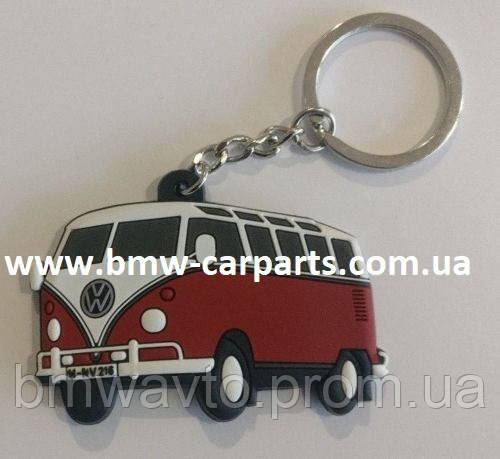 Резиновый брелок Volkswagen T1 Bulli, Red, фото 2