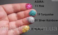 Глиттеры рассыпчатые AsurA cosmetics 21 Yellow, фото 3