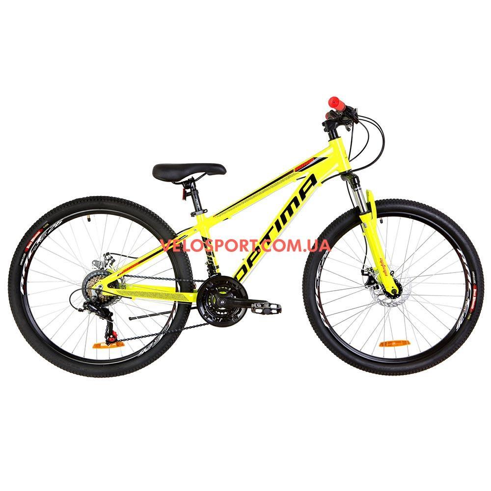 """Горный велосипед  Optimabikes Motion 26 дюймов 13"""" желто-черный с оранжевым"""