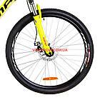 """Горный велосипед  Optimabikes Motion 26 дюймов 13"""" желто-черный с оранжевым, фото 3"""