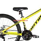 """Горный велосипед  Optimabikes Motion 26 дюймов 13"""" желто-черный с оранжевым, фото 4"""