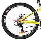 """Горный велосипед  Optimabikes Motion 26 дюймов 13"""" желто-черный с оранжевым, фото 5"""
