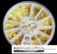 Металлостразы  в карусельке, логотип